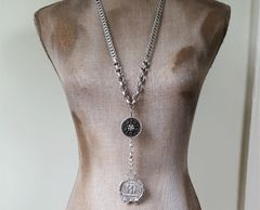 The Three Graces - Long Medallion Necklace