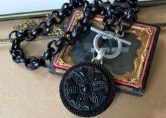 CORA - Antique Jet Glass Necklace