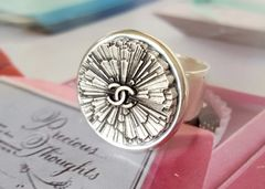 Chanel Button Ring, radiating flower