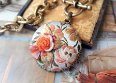 ADELIA - Enbroidered Textile Art Necklace