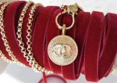 Chanel Button Necklace, removable pendant