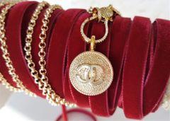 Chanel Button Necklace, removable pendant