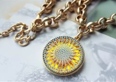 SUNSHINE - Czech Art Glass Necklace