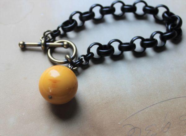 WILMA - Chunky Black Chain Bracelet