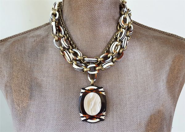 Art Deco DUO - 2 piece Art Deco Necklace