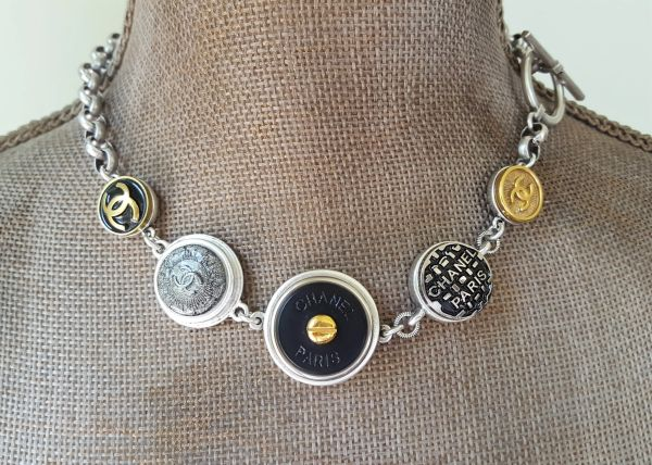 5 Chanel Button Necklace, Statement