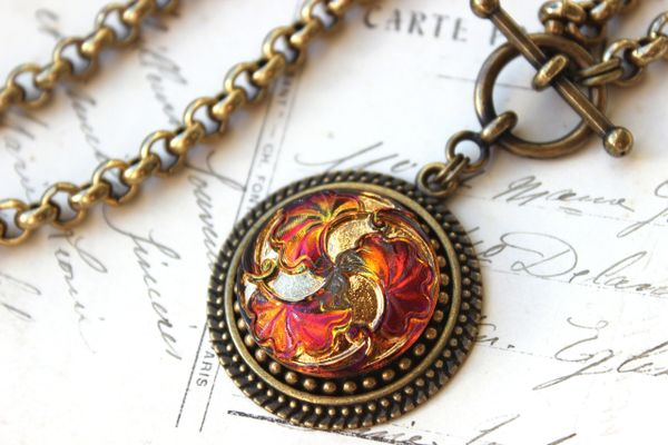 FIRE - Czech Art Glass Necklace