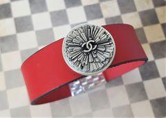 Leather Chanel Button Bracelet