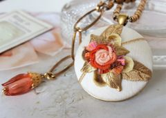 ROSA - Embroidered Textile Necklace
