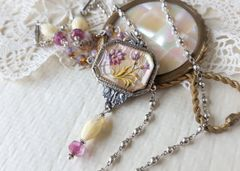 DELIA - Antique Floral Necklace, Assemblage