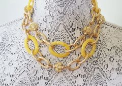 MAIZE - Sunny Yellow Floral Statement Necklace