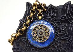 JANA - Blue Jasper Pendant Necklace