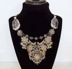 VIKI - Lace Bib Statement Necklace