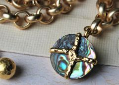 Italian Natural Abalone Necklace