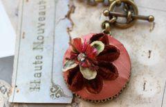 TESSA - Vintage Textile Necklace