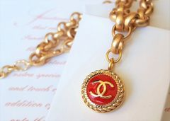 The Red Chanel Button Necklace
