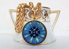 CAPRI Blue, Czech Glass Necklace