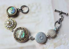 MARCH - Button Charm Bracelet