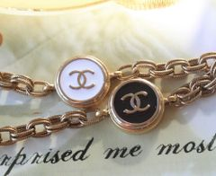 up-cycled, Chanel Button Bracelet