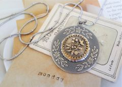 ANDI - Antique Button Necklace
