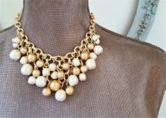 Baroque Pearl Bib Necklace