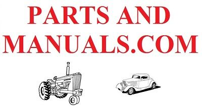Parts and Manuals