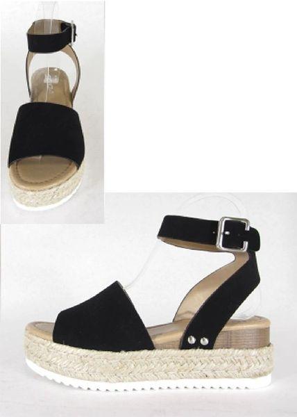 a95885aade40 Black Wrap Around Platform Sandals