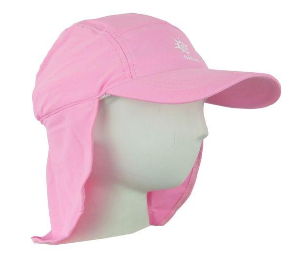 df77a5afe6934 Baby Girls Ozcoz UV UPF 50+ Sun Protection Swim Hat Legionnaire Plain Pink  1 to 2 Years