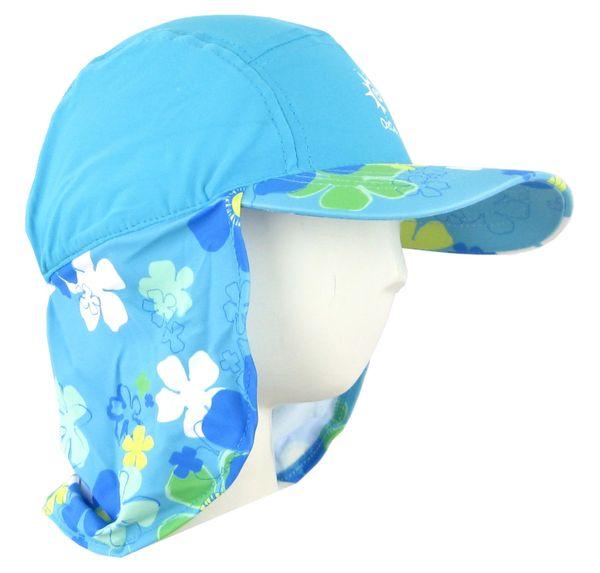 85e4f404 Baby Girls Ozcoz UV UPF 50+ Sun Protection Swim Hat Legionnaire Aqua 1 to 2  Years | Ozcoz swimwear uv sun suits muslim sun protection cover upf 50+