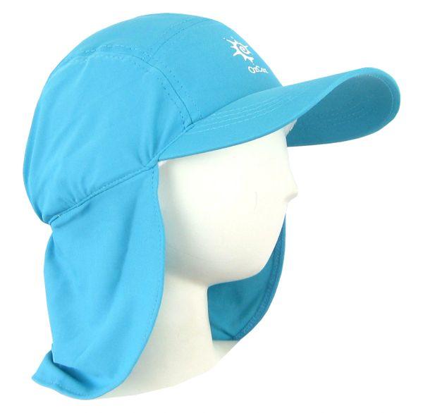 7f495911293 Girls Ozcoz UV UPF 50+ Sun Protection Swim Hat Legionnaire Plain Aqua 3 to  14 Years