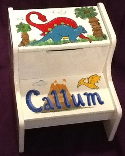 The painted robin personalized baby gifts step stool baby gifts dinosaur step stool negle Choice Image