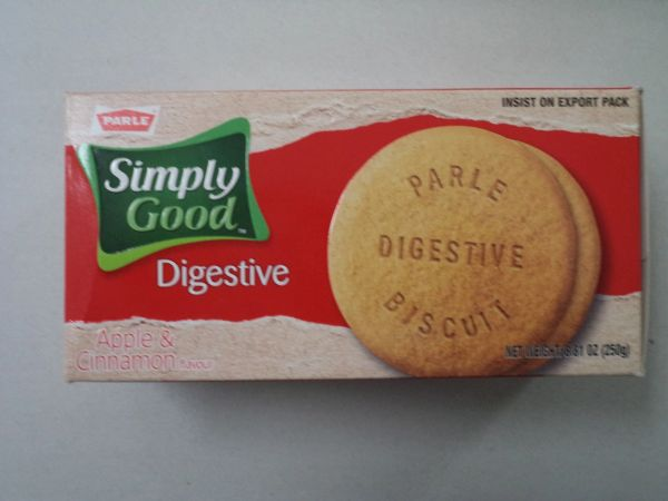 Simply Good Digestive Apple & Cinnamon Biscuits Parle 250 g