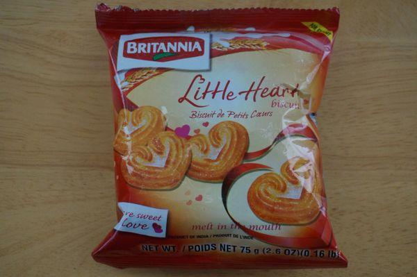 Little Heart Biscuits, Britannia, 75 G