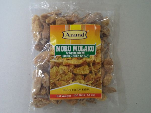 Moru Mulaku Vadagom ( Dried Green Chilly ) Anand 100 g