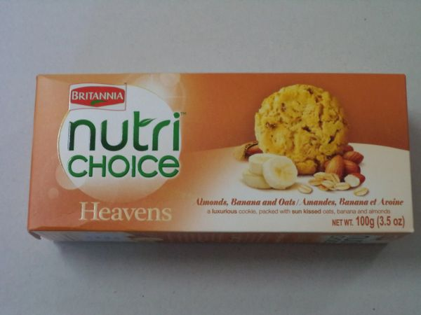 Nutri Choice Almond,Banana & Oats Cookies Britannia 100 g