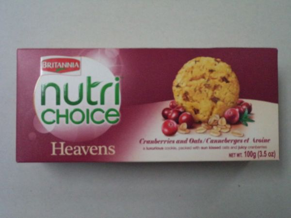 Nutri Choice Cramberriers & Oats Cookies Britannia 100 g