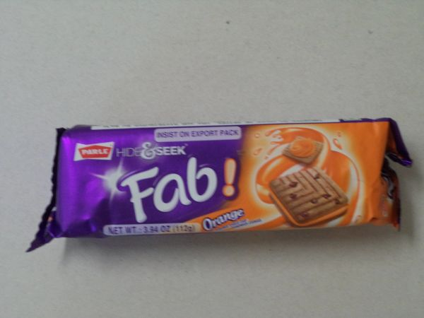 Hide & Seek Fab Orange Cookies Parle 112 g