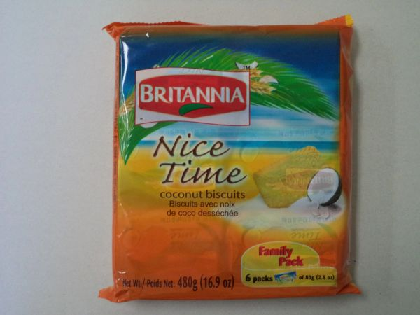 Nice Time Coconut Biscuits Britannia 480 g
