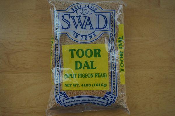 Toor Dal (Split Pigeon Peas), Swad, 4 Lbs