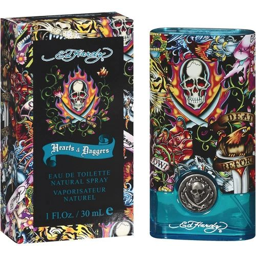 Ed Hardy Hearts Daggers 3 4 Oz Perfume For Women: Christian Audigier Ed Hardy Hearts & Daggers Men Man Hombre 3.4oz