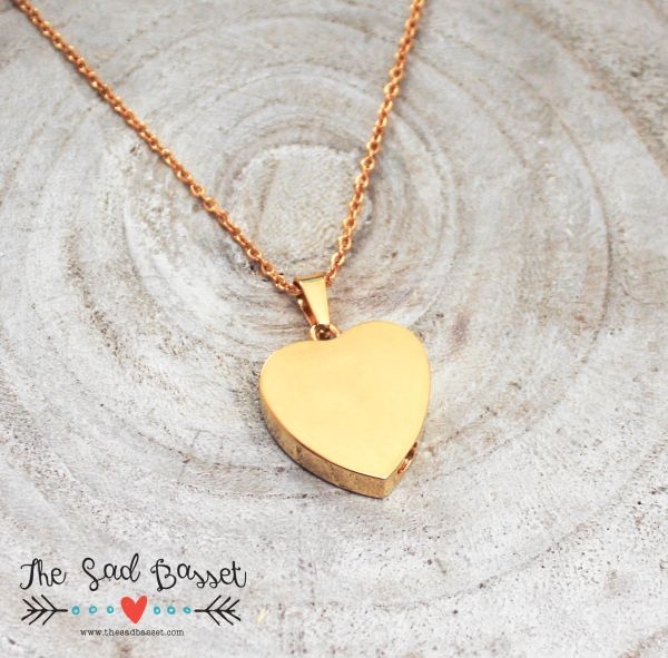Gold Hand Stamped Personalized Cremation Urn Pendant