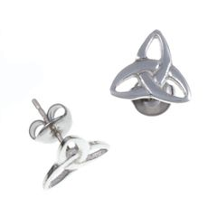 Trefoil Knot Stud Earrings