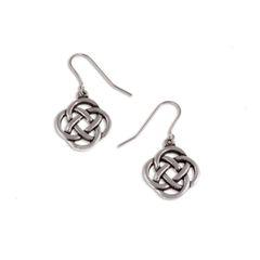 Square Knot Drop Earrings