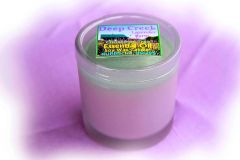 Lavender Christmas Candle, 10 oz frosted glass with DCLF logo