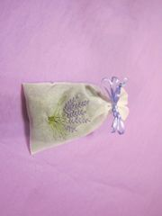 Large Organza, Lavender Embroidered Sachet