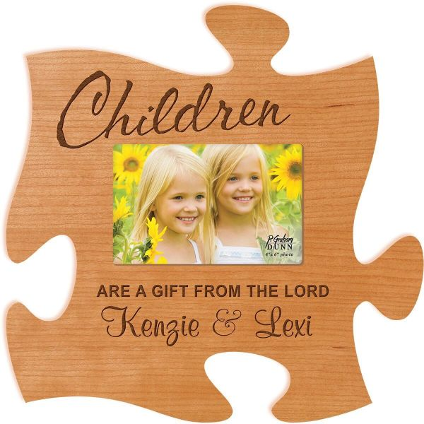 Puzzle Piece Picture Frame Southern Attitude Personalization