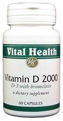 Vitamin D3 2,000 IU 60 caps