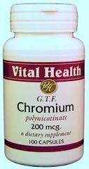 Chromium Polynicotinate GTF 100 caps