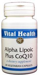 Alpha Lipoic Acid 300mg w/ Co-Q-10 100mg 30 caps
