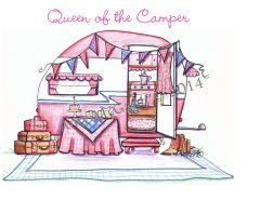 Friendship - Queen of the Camper Greeting Card